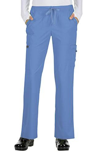Koi Basics Women's Holly Cargo Scrub Pants - S - True Ceil