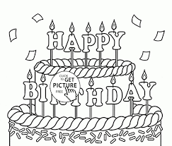 Birthday Cake Coloring Pages Best Drawn Birthday Coloring Page Pencil And In Color Drawn Birthday
