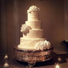 Anne And Nick Christmas Vintage Ruffle Pleated Wedding Cake