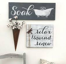 Best Of Decorative Bathroom Signs Or Rustic Decor 3 Set Farmhouse Soak Sign Relax