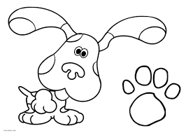 Blues Clues Coloring Pages Print Pawprint Season 1 6 Paw Song 2