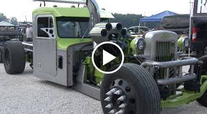 100 Rat Rod Semi Truck Cummins 300 Big Cam Custom Peterbilt Rat Rod SEMI Truck Speed Society