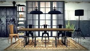 Industrial Dining Room Lighting At Pendant