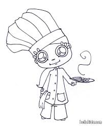Ready To Cook Little Chef Coloring Page