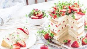 17 21 Rustic Strawberry Cake With Thyme Olive Oil And Meringue Buttercream