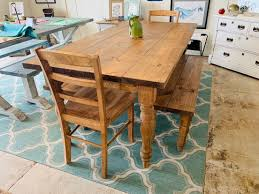 Rustic Farmhouse Table With Turned Legs, Benches And Chairs, Early ... Farmhouse Table Emmworks Brand New Shaker Bench Set With Refurbished Farmhouse Chairs Monika S Custom Rustic And Chair Order Trestle Barn Wood Xstyle Legs Benches Etsy Glenview Ding 4 Side Chairs At Gardnerwhite Painted With Black Color Paired And Classic Fan Ecustomfinishes 34 Off Wayfair Urban Outfitters Farm 7ft Pedestal Long Metal Fruitwood Farm Chair Houston Tx Event Rentals Bolanburg 6 Piece Rectangular