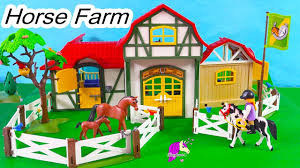 100 Farm House Tack Horse Playmobil Barn Room Stalls Building Playset Toy Video
