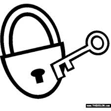 The Lock And Key Coloring Page