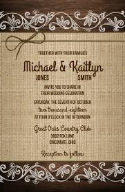 Wedding Invitations Wood Burlap Lace Twine 10 RSVP Cards