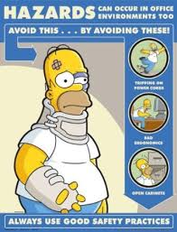Buy Simpsons fice Safety Poster Hazards In fice Environment