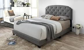 Lexi Contemporary Button Tufted Upholstered Bed
