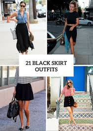 21 chic black skirt to try styleoholic