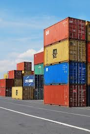 100 Steel Shipping Crates Stack Intermodal Containers Dock Container Export Cargo