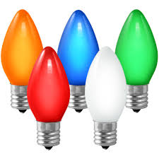 c9 opaque multi color replacement bulb 7 watt