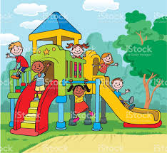 Children Playground Clipart Black And White 4