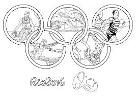 Swimming Five Sports In One Coloring Page