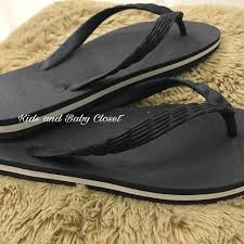 Beachwalk Black With White Outline Rubber Slippers