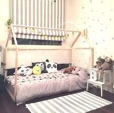 Montessori Bed Frame Handmade Bed Twin Wood House Bed Bed House