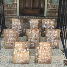 Wedding Aisle Signs Love Is Patient Kind Wood