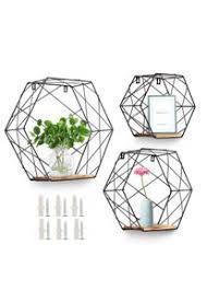 agsivo 3er set hexagon wandregal metall hängeregal