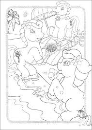 Ponies Playing Tennis Coloring Page