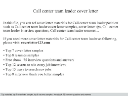 Team Leader Cover Letter Examples Sample Position Department Manager