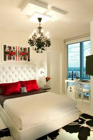 Catchy Modern Bedroom Ideas For Couples Design With Romantic White Bed And Red Pillows