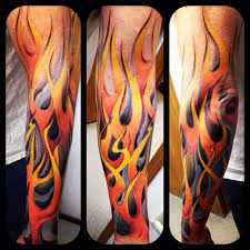 Flames And Dragon Sleeve Tattoos In 2018