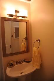 bathroom mirror basin towel ring lighting staged house flickr