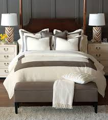 Luxury Bedding by Eastern Accents Breeze Mitered Linen Collection