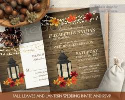Rustic Fall Wedding Invitations Set Metal Lantern 2360092