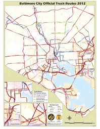 100 Truck Route Map E Designated S In Baltimore City Download Scientific