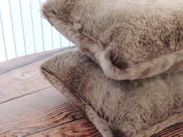 Pier One Decorative Pillows by Handmade Canadian Fox Stone Faux Fur 18 X In Decorative Pillow Set