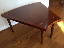 mid century modern wedge table by american of martinsville epoch