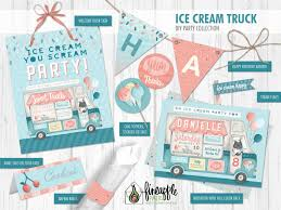 Ice Cream Party Decor, Ice Cream Truck Party Decor, Ice Cream Truck ... Sweet Ice Queen Cream Truck Kids Birthday Party Places Event Invitation Editable Diy Printable Classic Southern Van Shop On Wheels Popsicle Moore Minutes Build A Dream Playhouse Giveaway And Also Tips On How Doodlebug Designdoodle Popsweet Summer Collectionice Dragon Ice Cream Treats Let Us Make Your Special Cool Treat Invitations Vintage Cream Petite Studio Favor Box Cupcake Set