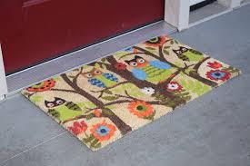 Cute Owl Car Floor Mats by Amazon Com Kempf Forrest Owls Coco Door Mat With Vinyl Backing