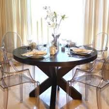 Transitional Dining Room With Louis XVI Ghost Chairs