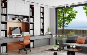 Home Interior Work Modern Home Office In Living Room Luxury Interior Work From