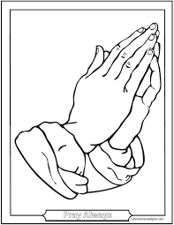Antique Praying Hands Coloring Sheet