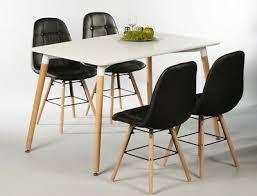 tischgruppe esstisch ilka weiß 4 stühle tobias schwarz essgruppe esszimmer