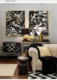 schwarz und weiß gold nordic poster moderne wohnkultur wand leinwand kunst abstrakte druck bilder für wohnzimmer malerei original