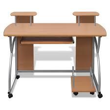 bureau informatique informatique et étagères brun
