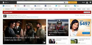 MSN s a banner that delivers breaking news in the form of