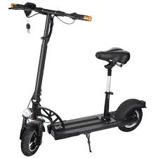 Anfan Electric Scooter Adult With Retractable Seat Foldable City E Bike For Boys Girls