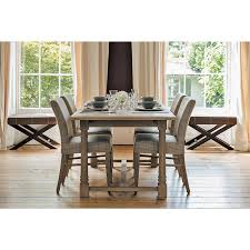 Edinburgh Extending Dining Table Shown With Miller Upholstered Chairs
