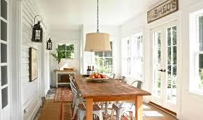 Rustic Farmhouse Dining Room Sunroom New