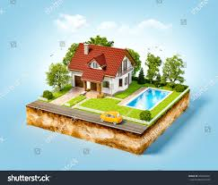 100 House Earth White Dream On Piece Stock Illustration 435500041