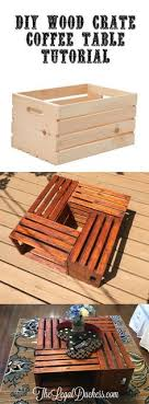 A Simple And Budget Friendly DIY Project For Wood Crate Coffee Table Get This