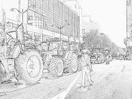 Tracteur Agricole Dessin Raffiné Coloriage De Tracteur Frais