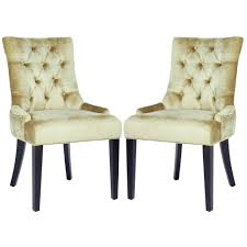 Upholstered Dining Room Chairs Target by Safavieh Marseille Nail Head Bronze Velvet Dining Chairs Set Of 2